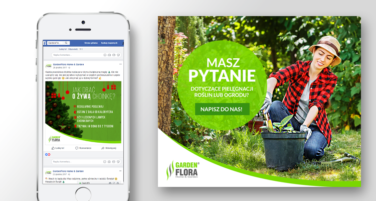 gardenflora zaangażowanie posty facebook case study social