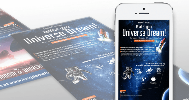 kingdom of universe case study social media grafika facebook shop