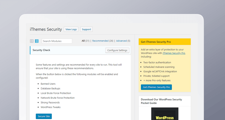Wordpress Pluginy - iThemes Security