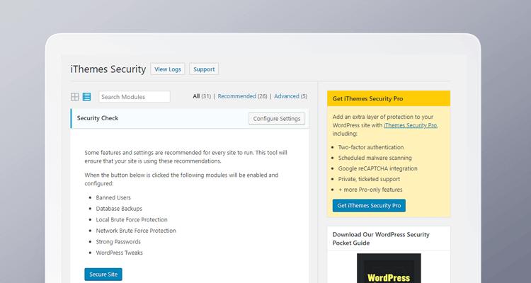 Wordpress Pluginy - iThemes Security